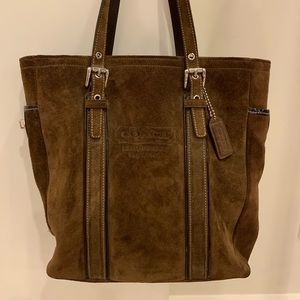 Coach purse brown suede